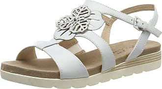 Caprice Womens Gipsy Ankle Strap Sandals, White Offwhite Su Me 128, 4 UK