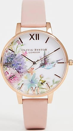 Olivia Burton OB16PP44 Painterly Prints leather watch in pink