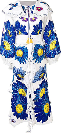 Yuliya Magdych Loves Me embroidered dress - White