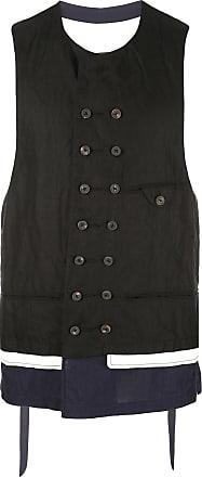 Ziggy Chen layered waistcoat - Black