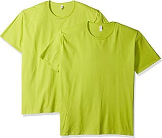 Fruit Of The Loom Mens Crew T-Shirt (2 Pack), Citrus Green, Large