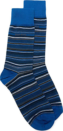 BOSS Par de meias listrada - 474 OPEN BLUE