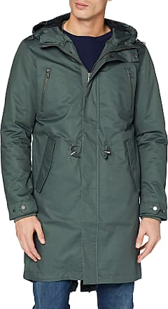 Selected Homme Mens Shnclash Parka STS, Green (Urban Chic), Small