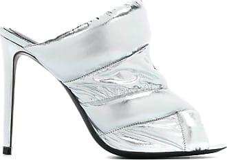 Nicholas Kirkwood metallic high heel sandals - SILVER