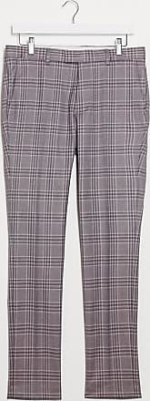 Topman skinny fit checked suit trousers in pink