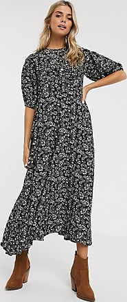 Free People Jessie ditsy floral print midi dress-Black