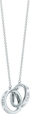 Tiffany & Co. Tiffany 1837 interlocking circles pendant in sterling silver, small - Size 16 in