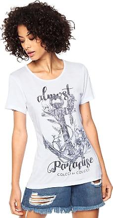 Colcci Camiseta Colcci Estampada Branca