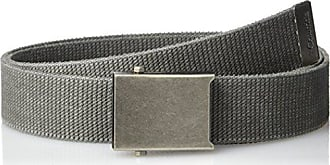 Columbia Mens Military Web Belt - Casual for Jeans Adjustable One Size Cotton Strap and Metal Plaque Buckle,Charcoal,One Size