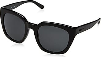 DKNY Womens Acetate Woman Sunglass Square, Black, 52 mm