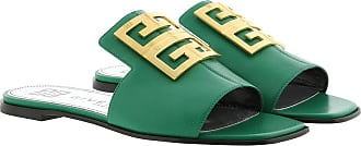 Givenchy Sandals - 4G Sandals Grained Leather Green - green - Sandals for ladies