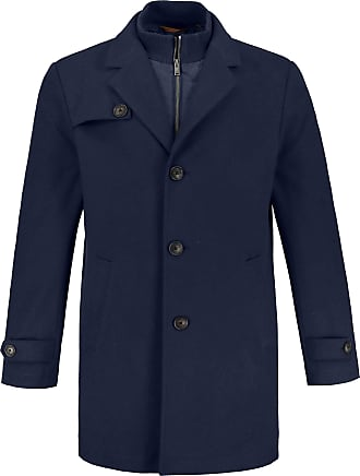 JP1880 Mens Big & Tall Wool Coat Ultramarine XXXX-Large 723448 73-4XL
