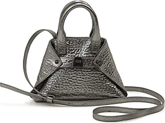MQaccessories Micro Messenger Bag in Metal Look with Hammered Structure