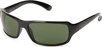 Ray-Ban RB4075 - BLACK Frame CRYSTAL GREEN POLARIZED Lenses 61mm Polarized