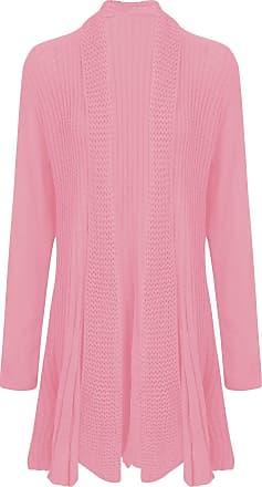 New Ladies Long Sleeve Crochet Knitted Waterfall Open Women Cardigan Plus Size