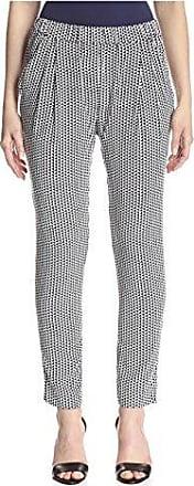 Joan Vass Womens Printed Pant, Black/White, 1