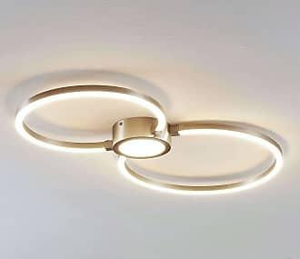 Lindby Lámpara LED de techo Duetto, círculos