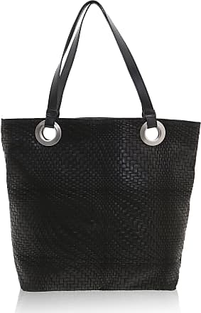 Chicca Borse Woman Shoulder Bag in Genuine Leather Made in Italy - 40 x 34 x 10 Cm
