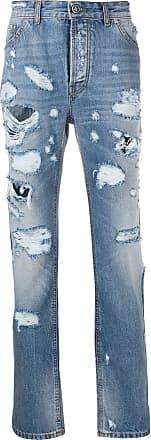 John Richmond Calça jeans com efeito destroyed - Azul