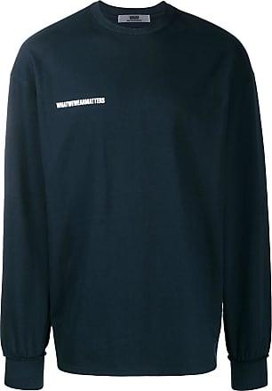 WWWM - What We Wear Matters Suéter com logo estampado - Azul