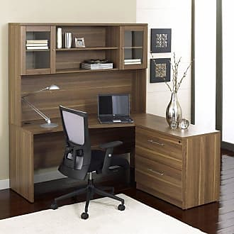 Unique Furniture 100 Series L-Shaped Desk with Hutch and Lateral File - 100COMBO4-ESP