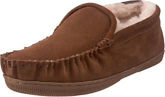 e96b5530c83 Staheekum Mens Plush Shearling Lined Slipper