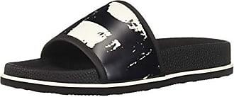 6c2b526fe9f6 Calvin Klein Mens MACKEE Slide Sandal White Black 7 M M US