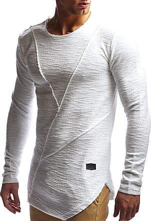 LEIF NELSON Mens Sweater Long Sleeve Crew Neck Sweatshirt LN-6323 Ecru XX-Large