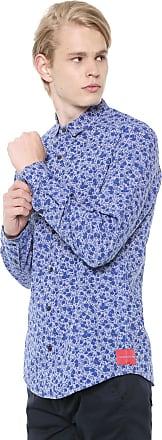 Calvin Klein Jeans Camisa Calvin Klein Jeans Slim Floral Azul