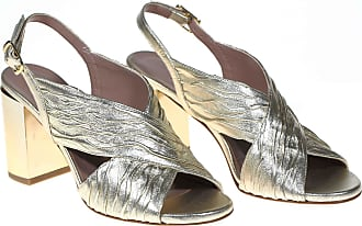 Albano sandalo tacco largo platino