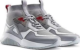 HUGO BOSS Sneakers mit Stricksocke und dicker Sohle