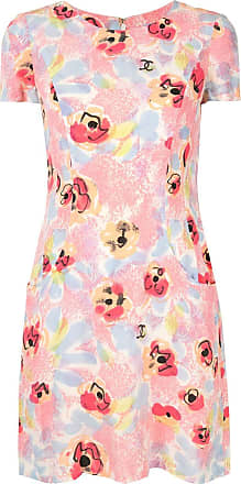Chanel short sleeve one piece dress - Pink