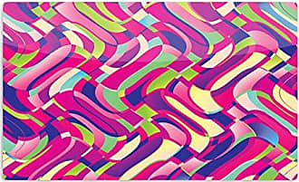 KESS InHouse Dawid RocColorful Movement Pink Abstract Artistic Aluminum Magnet, 2 by 3, Multicolor