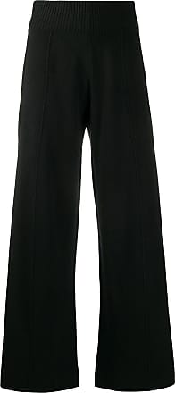 Pringle Of Scotland Calça pantalona de tricô - Preto