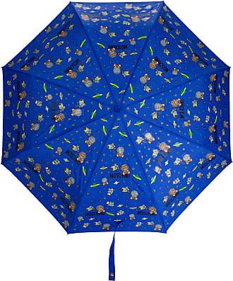 Moschino Ombrello con stampa a tema spazio - Di colore blu