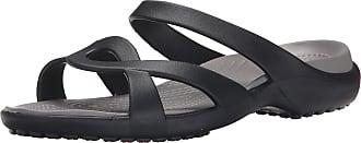 Crocs Womens Meleen Twist Sandals, Black (Black/Smoke), 3 UK