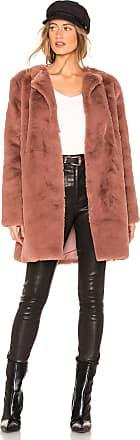 BB Dakota Love You Furever Faux Fur Coat in Mauve