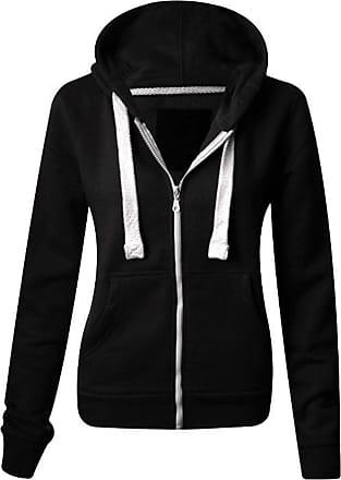 Parsa Fashions MALAIKA Ladies Plain Colour Hoodie Womens Fleece Hooded Top Zip Up Zipper Hoodie Sweatshirt Jacket Coat Sweater Plus Sizes Small-XXXXXXXXL S-8XL (UK 6