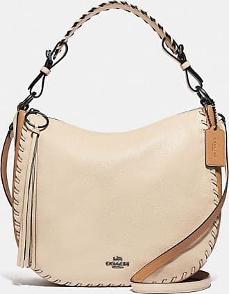 Coach Sutton Hobo In Colorblock With Whipstitch in White