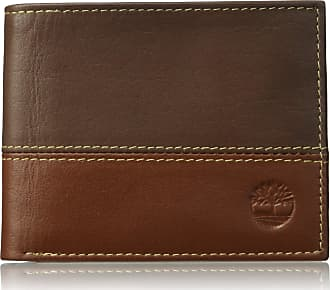 73f7107a0934 Timberland Timberland Mens Hunter Leather Passcase Wallet Trifold Wallet  Hybrid