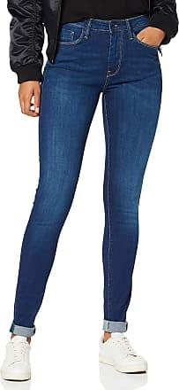 Pepe Jeans London Womens Regent Skinny Jeans, Blue Dark Used Hydroless Denim, 28W / 30L