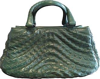 be9acfb58459 1stdibs Bottega Veneta Irish Green Intrecciato Nappa Leather Handbag