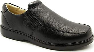 Doctor Shoes Antistaffa Sapato Masculino 410 em Couro Floater Preto Doctor Shoes -Preto-39