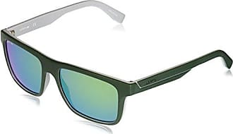 fc6af23ff Lacoste Mens L876s Plastic Square Stripes & Piping Sunglasses, Matte  Green/Grey, 57