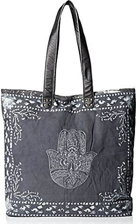 ále by Alessandra Womens Hatha Fully Lined Bag, Charcoal/White, One Size