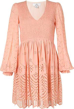 We Are Kindred Kleid mit Lochstickerei - Orange