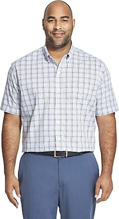 Van Heusen Mens Flex Stretch Short Sleeve Non Iron Shirt Button, Forever Blue, XXL Big