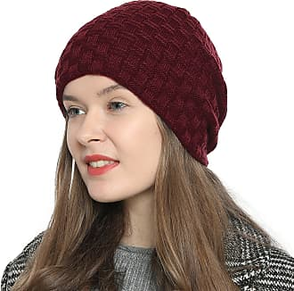 DonDon Womens Winter Beanie slouch style with very soft and comfortable to wear inner lining - Dark bed