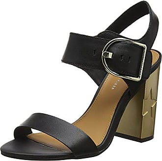 Tommy Hilfiger Damen Feminine Heel Oversized Buckle Riemchensandalen,  Schwarz (Black 990), 41 727e165bdf