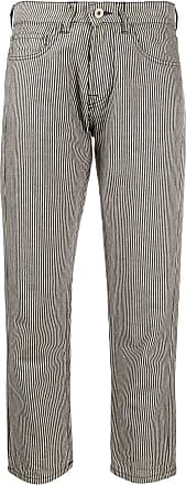 Ymc You Must Create stripe print trousers - Blue